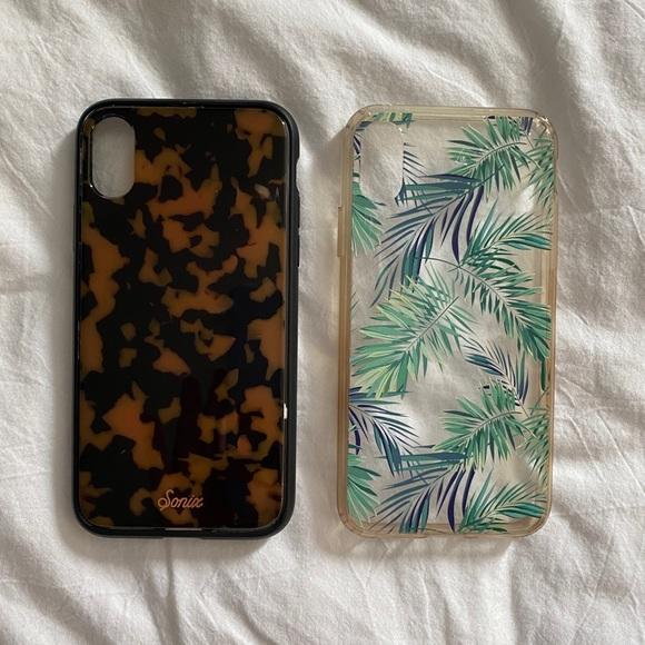Sonix Accessories - iPhone X/XS Phone Case Bundle - Tortoise & Palm